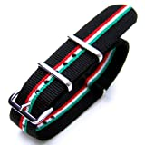 20mm NATO ITALIAN SPECIAL EDITION POLISHED (ITALIAN Flag design Ver. 2)