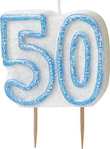 bling-party-decorations-and-tableware-for-50th-birthday-in-blue-glitz-sparkle-50-candle