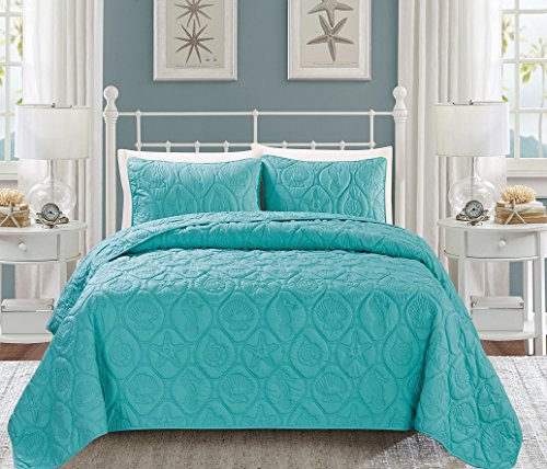 3-Piece-Reversible-Bedspread-Embossed-Coverlet-set-Full-Queen-King-and-Cal-King-Bed-Cover