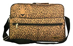 Worlds Lightest Cabin Size Flight Bag, weight 0.4Kg, dimension 42cm x 29cm x 16cm - Fits Ryanair/Easyjet (Leopard Face)