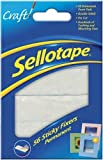 PACK OF 3 - Sellotape Sticky Fixers Double-Sided 12x25mm (56 Foam Pads per pack)