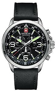 Swiss Military 6-4224.04.007 - Reloj de pulsera hombre, piel, color negro