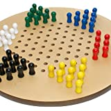 """Bello Games Deluxe Giant Size Chinese Checkers Set 17""""."""
