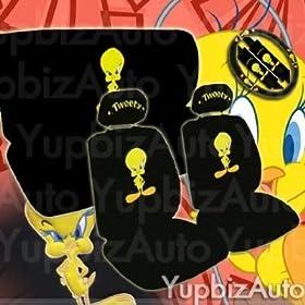 Front New Design 11 Pieces Tweety Bird Attitude Logo Car Seat Covers