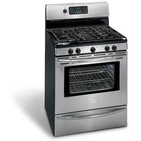 Frigidaire Professional Series : PLGFZ397GC 30 Freestanding Gas Range - Stainless Steel/Black