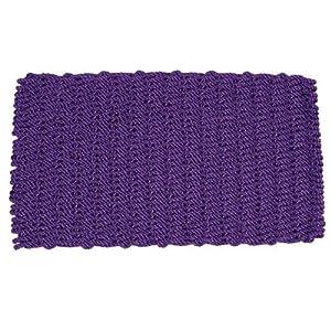 """Outdoor Doormat Size: 18"""" x 30"""", Color: Purple"""