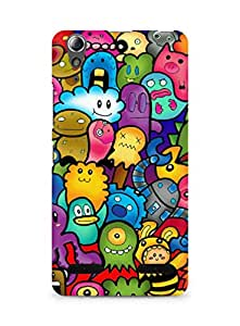 Amez designer printed 3d premium high quality back case cover for Lenovo A6000 (Cute Ghosts)