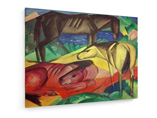 franz-marc-tres-caballos-del-ii-1913-60x45-cm-weewado-impresiones-sobre-lienzo-muro-de-arte