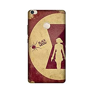 StyleO Xiaomi Mi Max Printed Case & Covers (Xiaomi Mi Max Back Cover) - Black Widow