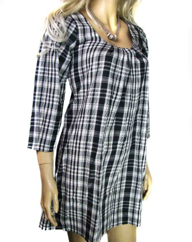 Ladies Black and White Check Dress or Long Tunic