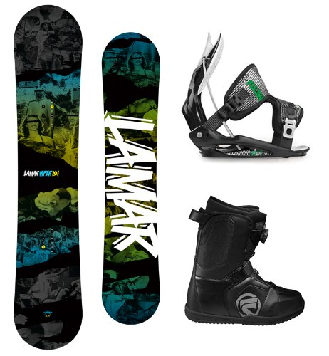 Lamar Viper Complete Snowboard Package with Flow Flite 2 Men's Bindings and Flow Vega BOA Men's Boots Board Size 163 Wide