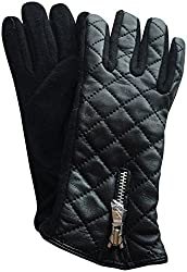 Lauren Ralph Lauren Touch Screen Quilted Leather Gloves Small