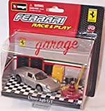 Race and play silver ferrari dino 246 GT garage scene set 1.43 scale diecast model
