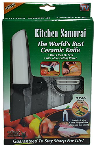 Skilcraft As Seen on TV! Kitchen Samurai Ceramic Knife and Bonus Peeler Set