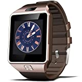 EFOSHM@ Bluetooth Smart Watch with Camera for Samsung S5 / Note 2 / 3 / 4, Nexus 6, Htc, Sony and Other Android Smartphones (Gold)