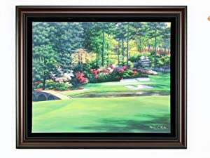 Golf Gifts & Gallery Augusta #12 Framed Canvas Art by Golf Gifts & Gallery