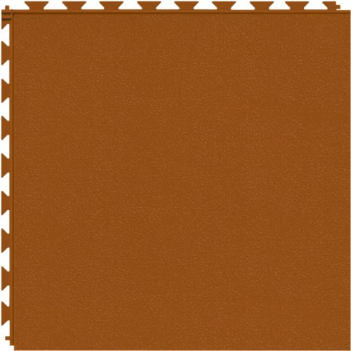 Tuff-Seal Prime Patented Hidden Interlock, Commercial Quality Vinyl Floor Tile (No Adhesive Necessary), Surface: Smooth, Color: Terracotta