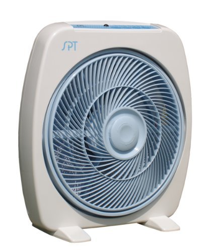 Sunpentown SF-1283 3-Speed Vertical-Tilt 12-Inch Box Fan with Remote Control