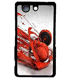 PRINTSWAG RED HEADPHONES Designer Back Cover Case for SONY XPERIA Z4 MINI