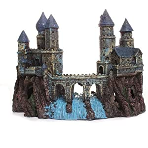 Wizard castle large fish tank decorations for Fish tank decorations amazon