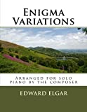 img - for Enigma Variations - for piano solo: arranged by the composer book / textbook / text book