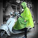(マリア)MARIAH バイク 自転車用大きなツバ付き レインコート レディース レインウェア 通学 通勤 グリーン