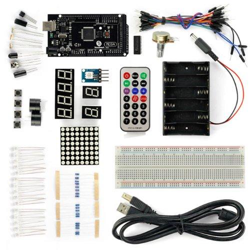 Sainsmart Mega2560 R3 Atmega2560-16Au Starter Kit With Over 16 Basic Arduino Tutorial Projects For Arduino Beginners