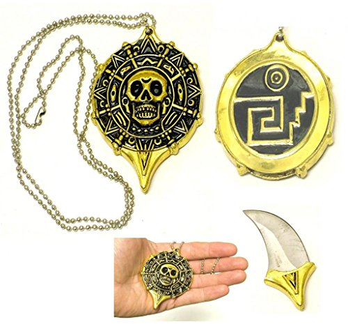 New Pirate Skull Coin Pendant/Neckknife Fm455
