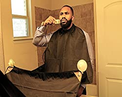 Premium Quality Beard Grooming Cape By Centaur Grooming. Best Ergonomic Beard Hair Catcher. Mens Grooming Apron With Suction Cups For Easy and Clean Trimming. Bonus: Travel Bag For Convenient Storage