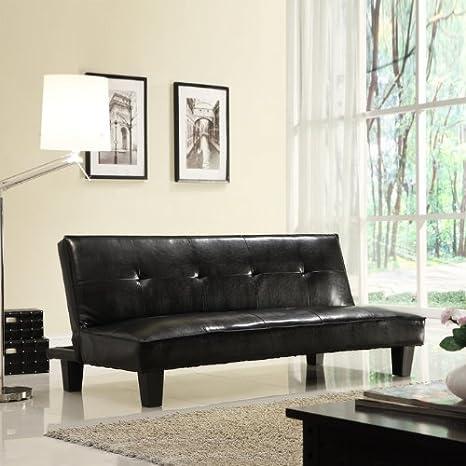 Home Creek Faux Leather Mini Futon Sofa Bed