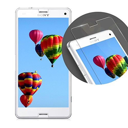 kalibri-Echtglas-Displayschutzfolie-fr-Sony-Xperia-Z3-Compact-02-mm-Glas-mit-9H-Hrtegrad-Schutzfolie-Panzerglas-Schutzglas-Glasfolie-in-kristallklar