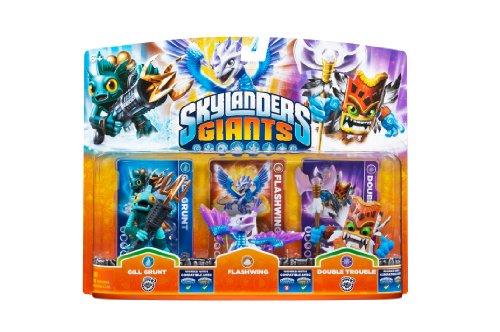 Skylanders Giants - Triple Pack #4 - Flashwing - Gill Grunt 2 - Double Trouble 2