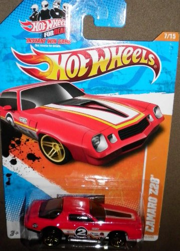 HOT WHEELS 2011 TRACK STARS RED 7/15 CAMARO Z28 72/244