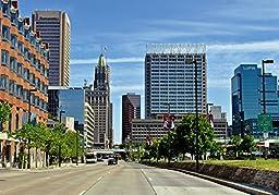 Original Baltimore Art - Light Street Skyline On A Clear Day Print -