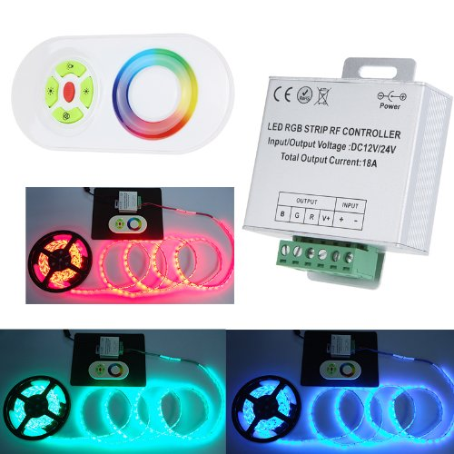 Docooler 12/24V Wireless Rf Remote Control Touch Panel Led Controller Dimmer For Rgb Led Strips