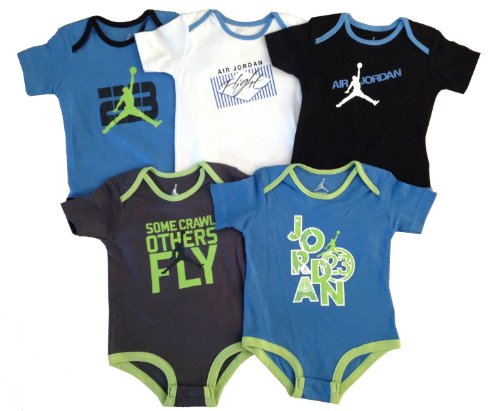 Air Michael Jordan Infant 5Set Bodysuit +3.5Mm Anti Dust For Phone/Ipad/Tablet (6-9Months) front-1077998