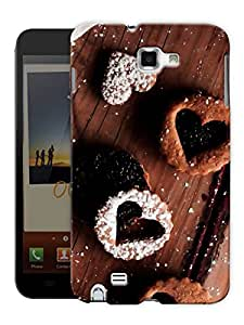 """Humor Gang Chocolate Heart Printed Designer Mobile Back Cover For """"Samsung Galaxy Note 1"""" (3D, Matte, Premium Quality Snap On Case)"""