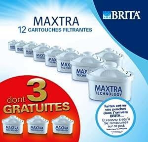 Brita L07324 Pack de 9 Cartouches filtrantes Maxtra + 3 Cartouches OfferteS Capacité de filtration unitaire d'environ 150 litres