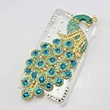 niceeshop(TM) Blue Bling Rhinestone Crystal Clear Peacock Hard Case Cover Fit For Apple iPod Touch4+Screen Protector