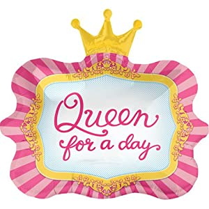 """Amazon.com: Queen For A Day Crown 23"""" Mylar Foil Balloon: Toys & Games"""