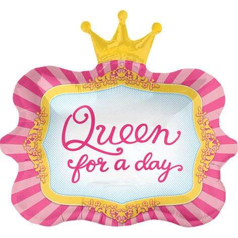 "Queen For A Day Crown 23"" Mylar Foil Balloon"