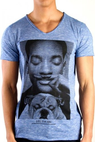 Eleven Paris -  T-shirt - Maniche corte  - Uomo Blue Melange W. Smith Small