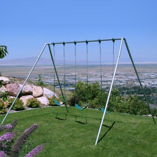 Deals Af 30 Swing Set 10 Foot Tall Heavy Duty 3 Swing Seats