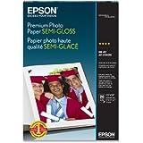 Epson Premium Photo Paper SEMI-GLOSS (13x19 Inches, 20 Sheets) (S041327)