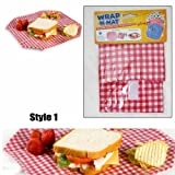 Set of 3 Wrap N Mat Reusable Sandwich Wrap Placemat in One Place Lunch Snack Eco
