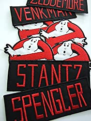 Ghostbusters costume accurate name and logo patch set by ONEKOOL