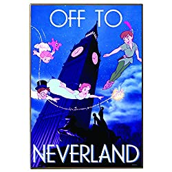 Disney Silver Buffalo PP0836 Peter Pan Flying Off to Neverland Wall Art 13 by 19