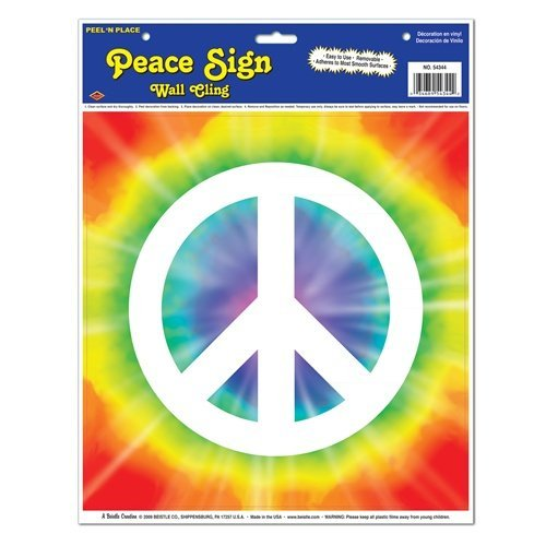 Peace Sign Peel 'N Place Party Accessory (1 count) (1/Sh)