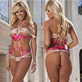 Luxbon Women's Cocplay Sexy Lingerie,Sexy Baby Doll Sleepwear Bikini Breasted Outfit Color White One Size