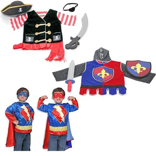 Melissa & Doug Pirate Super Hero and Play Knight Costume Juego de Rol 3